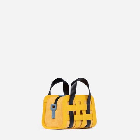 Mini Woven Bag - Yellow