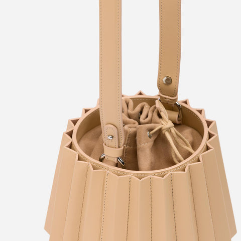 Mini Lantern Bag Pleated - Champagne