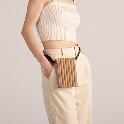 Pleated Tool Bag - Latte
