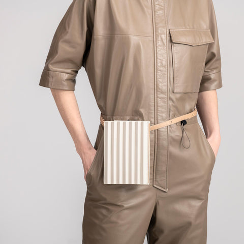 Pleated Tool Bag - Off White