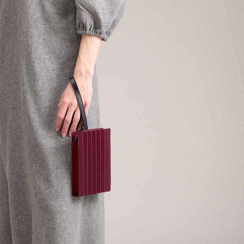 Pleated Tool Bag - Plum