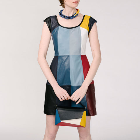 Rei Open Neck Dress - Multicolor