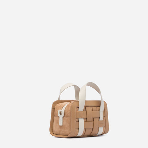 Mini Woven Bag - Latte