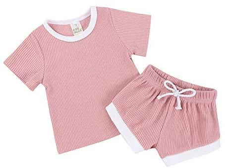 Knitted Summer 2Pcs/set- Pink 2 piece set, Baby Clothing, clothing, featured, kids, knitted, new, Romper, set knitted-summer-2pcs-set-pinkTwo Little Seedlings
