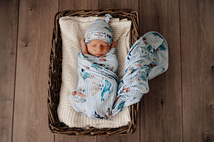 Whale | Baby Jersey Wrap & Beanie Set Swaddle, jersey wrap, new, Swaddle whale-baby-jersey-wrap-beanie-setTwo Little Seedlings