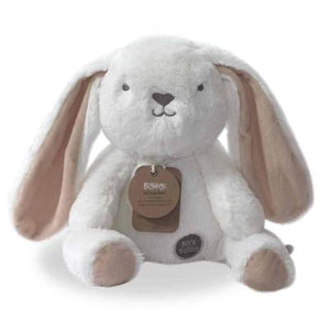 Stuffed Animals | Soft Plush Toys Australia | White Bunny - Beck Bunny Huggie O.B Teddy's and Comforters, bunny, new, soft toy stuffed-animals-soft-plush-toys-australia-white-bunny-beck-bunny