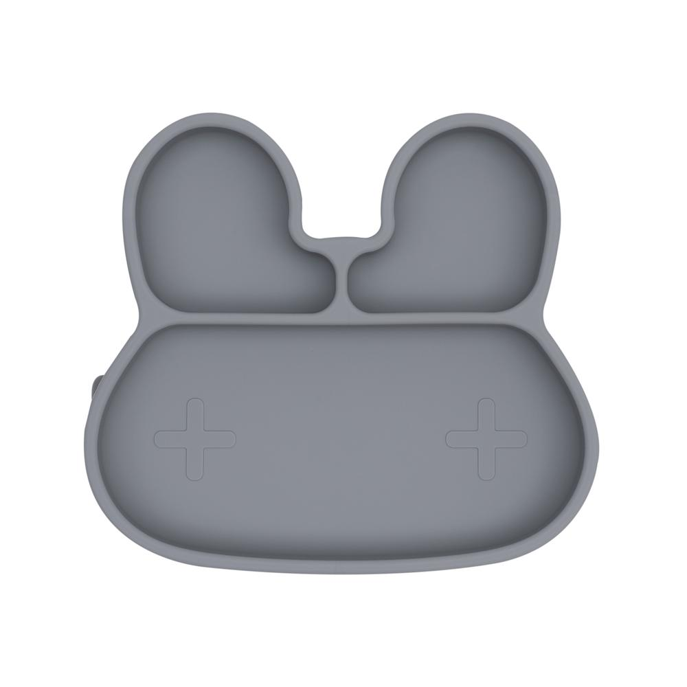 Bunny Stickie Plate - Grey Suction Plate, Meal time, new, silicone plate bunny-stickie-plate-greyTwo Little Seedlings