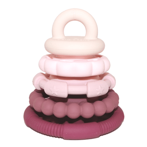 Rainbow Stacker & Teether Toy- Dusty Rainbow teether & stacker, rainbow, stacker, teether rainbow-stacker-teether-toy-dustyTwo Little Seedlings