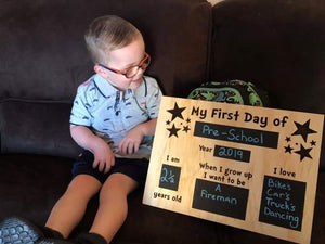 First Day of School Boards First Day of School Boards, First Day of School Boards, Milestone Plaques, milestones first-last-day-of-school-boards-pre-orderTwo Little Seedlings