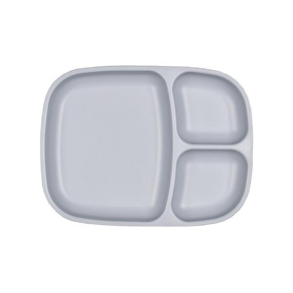 Re-Play Divided Tray - Grey Plates, divider plate, plates, replay re-play-divided-tray-greyTwo Little Seedlings