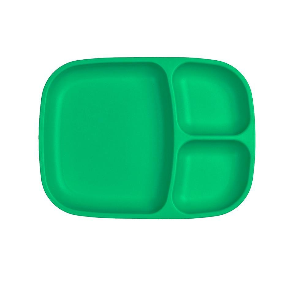 Re-Play Divided Tray - Kelly Green Plates, divider plate, plates, replay, tray re-play-divided-tray-kelly-greenTwo Little Seedlings
