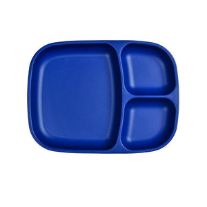 Re-Play Divided Tray - Navy Blue Plates, plates, replay, tray re-play-divided-tray-navy-blueTwo Little Seedlings