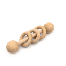 Load image into Gallery viewer, Organic Wooden Baby Rattle Wooden Rattle, rattle organic-wooden-baby-rattleTwo Little Seedlings