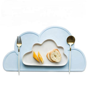 Non Slip Silicone Clouds Placemat - Light Pink Silicone Place Mat, Meal time, Silicone place mat non-slip-silicone-clouds-placemat-light-pinkTwo Little Seedlings