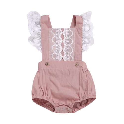 Summer Sleeveless Lace Romper Romper, Baby Clothing, clothing, Lace Romper, new, Romper summer-sleeveless-lace-romperTwo Little Seedlings