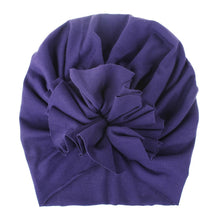 Load image into Gallery viewer, Soft Cotton Baby/Toddler Hair Turban with Ruffle- Purple Turban, headband, new, TopKnot, Turban soft-cotton-baby-toddler-hair-turban-with-ruffle-purpleTwo Little Seedlings