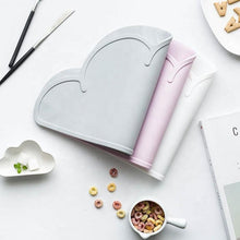 Load image into Gallery viewer, Non Slip Silicone Clouds Placemat - Lilac Pink Silicone Place Mat, Meal time, Silicone place mat non-slip-silicone-clouds-placemat-lilac-pinkTwo Little Seedlings