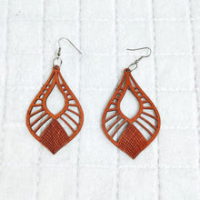 Load image into Gallery viewer, Hollow Natural Wooden Drop Earrings Wooden Earrings, earrings, new hollow-natural-wooden-drop-earringsTwo Little Seedlings