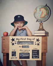 Load image into Gallery viewer, First Day of School Boards First Day of School Boards, First Day of School Boards, Milestone Plaques, milestones first-last-day-of-school-boards-pre-orderTwo Little Seedlings