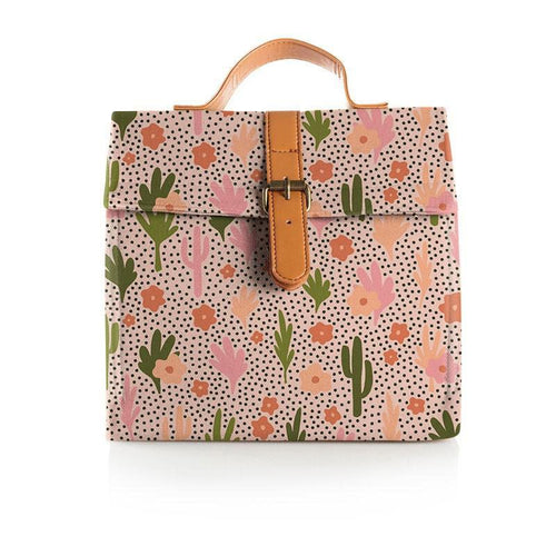 Blooming Cacti Large Lunch Bag Lunch Bag, Lunch bag, new blooming-cacti-large-lunch-bagTwo Little Seedlings