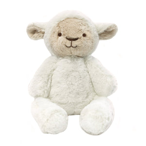Stuffed Animals | Soft Plush Toys Australia | White Lamb - Lee Lamb Huggie O.B Teddy's and Comforters, bunny, lamb, new, soft toy pre-order-stuffed-animals-soft-plush-toys-australia-white-lam