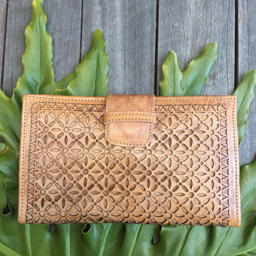 LASER CUT TRAVEL WALLET- Vintage Tan Laser Cut Leather Wallet, Carved, featured, Leather, new, Wallet laser-cut-travel-wallet-vintage-tanTwo Little Seedlings