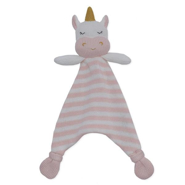 KENZIE THE UNICORN SECURITY BLANKET Security Blanket, comforter, rattle, soft toy, teether kenzie-the-unicorn-security-blanketTwo Little Seedlings