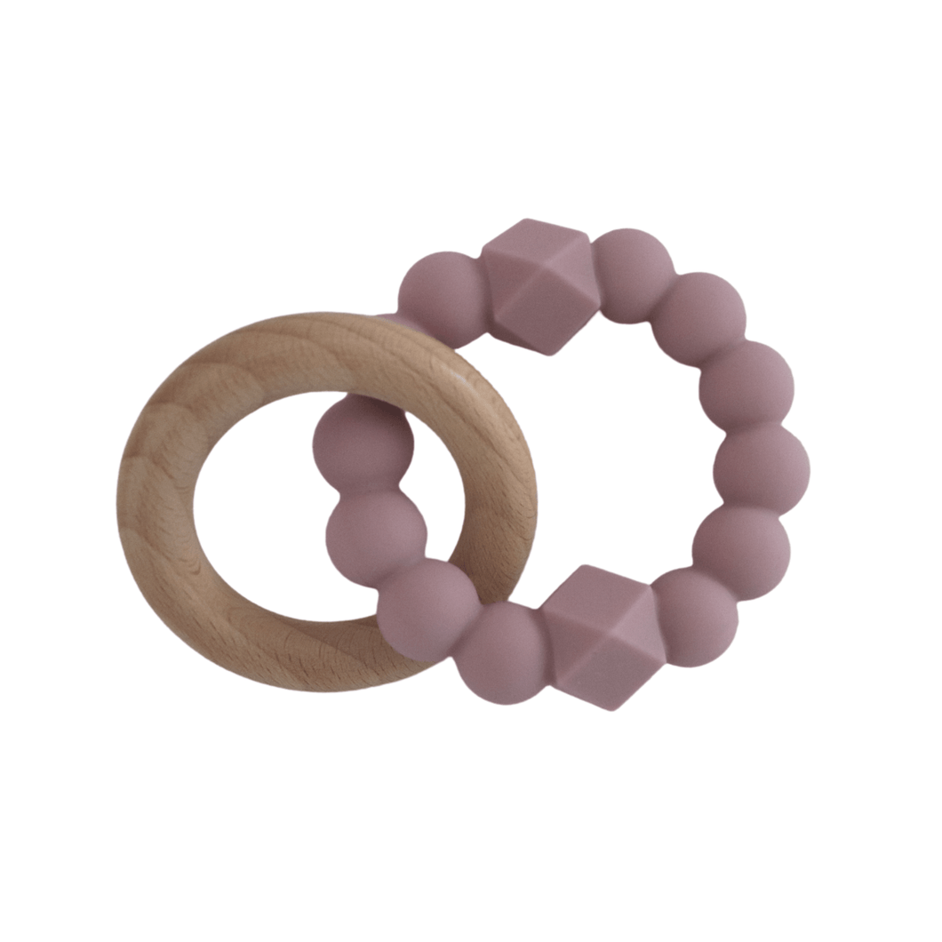 MOON TEETHER- Mauve Teether, teether moon-teether-mauveTwo Little Seedlings