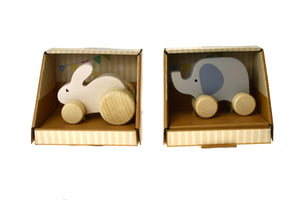 CALM & BREEZY WOODEN ANIMAL CAR SET OF 2 Wooden Animal Car Set of 2, toys, wooden calm-breezy-wooden-animal-car-set-of-2Two Little Seedlings