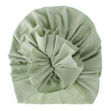 Load image into Gallery viewer, Soft Cotton Baby/Toddler Hair Turban with Ruffle- Light Olive Turban, headband, new, TopKnot, Turban soft-cotton-baby-toddler-hair-turban-with-ruffle-light-oliveTwo Little Seedlings