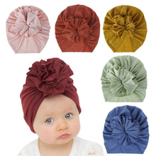Load image into Gallery viewer, Soft Cotton Baby/Toddler Hair Turban with Ruffle- Sofy Grey Turban, headband, new, TopKnot, Turban soft-cotton-baby-toddler-hair-turban-with-ruffle-sofy-greyTwo Little Seedlings
