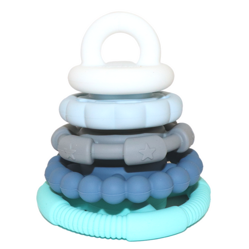 Rainbow Stacker & Teether Toy- Ocean Rainbow teether & stacker, ocean, rainbow, stacker, teether rainbow-stacker-teetger-toyTwo Little Seedlings