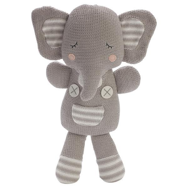ELI THE ELEPHANT- KNITTED TOY Soft Toy, comforter, featured, soft toy eli-the-elephant-knitted-toyTwo Little Seedlings