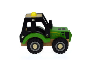KD WOODEN GREEN TRACTOR Wooden tractor, toys, tractor, wooden kd-wooden-green-tractorTwo Little Seedlings