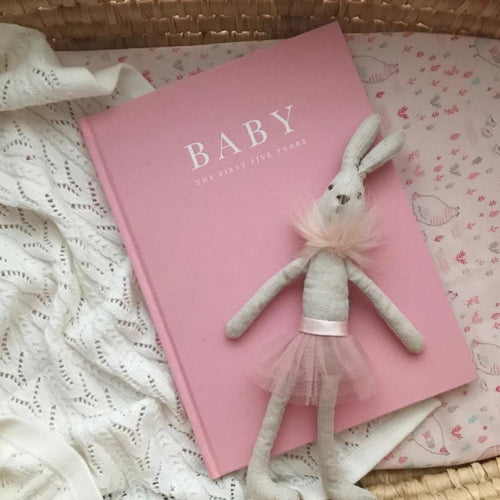 Baby Journal- Birth to 5 Years- Pink Baby Journal, Baby Journal, featured baby-journal-5-yearsTwo Little Seedlings