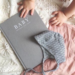 Baby Journal- Birth to 5 Years- Grey Baby Journal, Baby Journal, featured baby-journal-birth-to-5-years-greyTwo Little Seedlings