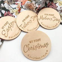 Load image into Gallery viewer, Baby Milestone Plaques - Special Firsts and First Christmas Milestone plaques, baby milestone, Christmas, easter, gifts, Milestone Plaques, milestones, special occasion baby-milestone-plaques