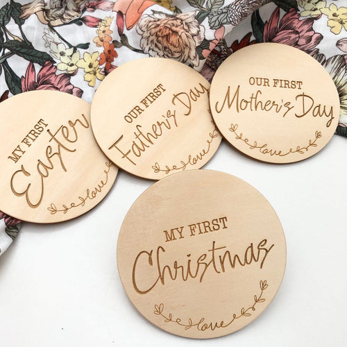 Baby Milestone Plaques - Special Firsts and First Christmas Milestone plaques, baby milestone, Christmas, easter, gifts, Milestone Plaques, milestones, special occasion baby-milestone-plaques