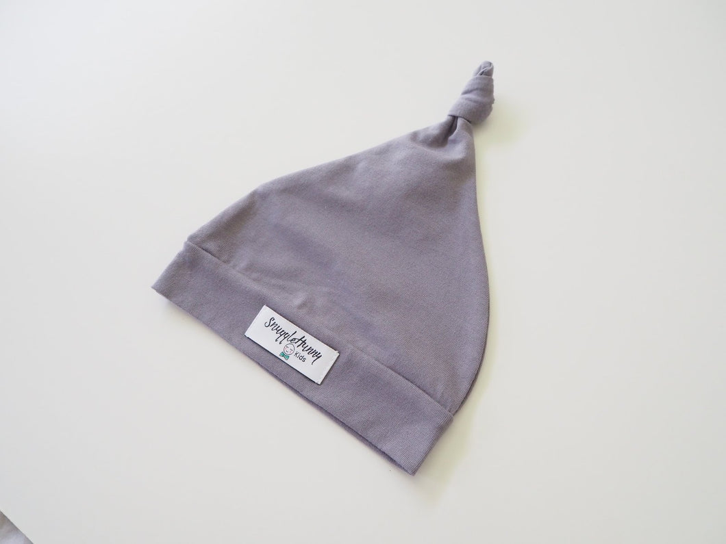 Grey Knotted Beanie Beanie, featured, headband, new, Swaddle grey-knotted-beanieTwo Little Seedlings
