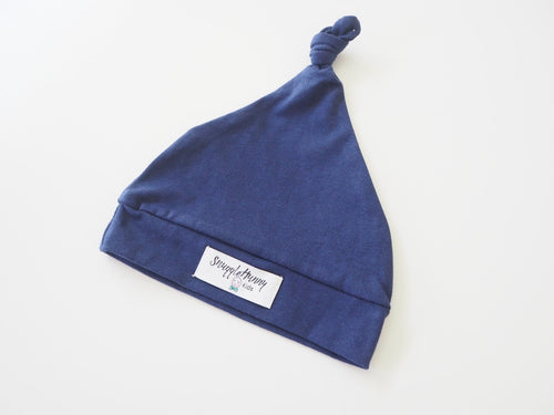 Navy Knotted Beanie Beanie, featured, headband, new, Swaddle navy-knotted-beanieTwo Little Seedlings