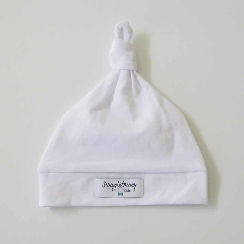 White Knotted Beanie Beanie, featured, headband, new, Swaddle white-knotted-beanieTwo Little Seedlings