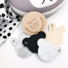 Load image into Gallery viewer, BEAR Silicone Teething Disc- Granite White Teether, teether bear-silicone-teething-disc-granite-whiteTwo Little Seedlings