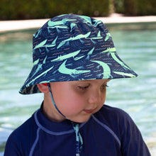 Load image into Gallery viewer, Boys Beach Bucket Hat UPF50+ 'Crocodile' Print Chlorine Resistant Swim Hat with Chin Strap Baby & Children's Hats, baby & children's hats, hats boys-beach-bucket-hat-upf50-crocodile-print-chl