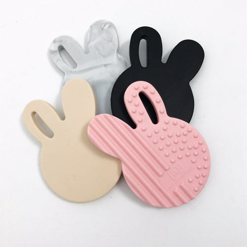 Bunny Silicone Teether- Pink Teether, teether bunny-silicone-teetherTwo Little Seedlings