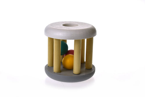 CALM & BREEZY WOODEN RATTLE- Light Grey Wooden Rattle, rattle, toys, wooden calm-breezy-wooden-rattle-light-greyTwo Little Seedlings