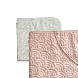 CAM CAM Hooded Wave Baby Towel Blossom Pink Bath Towel Set, featured, gift set, sale, towel cam-cam-hooded-wave-baby-towel-blossom-pinkTwo Little Seedlings