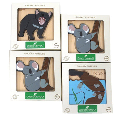 Chunky Puzzles Aussie Animals - Assortment of 4 - Two Little Seedlings