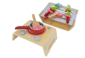 Discoveroo BBQ and Stove Top Wooden Toys, toys, wooden discoveroo-bbq-and-stove-topTwo Little Seedlings