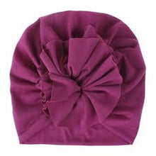 Load image into Gallery viewer, Soft Cotton Baby/Toddler Hair Turban with Ruffle- Mauve Turban, headband, new, TopKnot, Turban soft-cotton-baby-toddler-hair-turban-with-ruffle-mauveTwo Little Seedlings