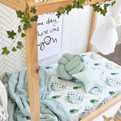 Enchanted I Fitted Cot Sheet Sheets, Bed Linen, new, nursery linen enchanted-i-fitted-cot-sheetTwo Little Seedlings